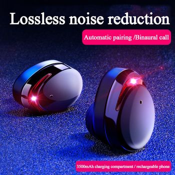 Earphones Noise Cancellation IPX6 Waterproof Touch Bluetooth 5.0 Earbuds Bass True Wireless Headset With 3000mAh Cabin