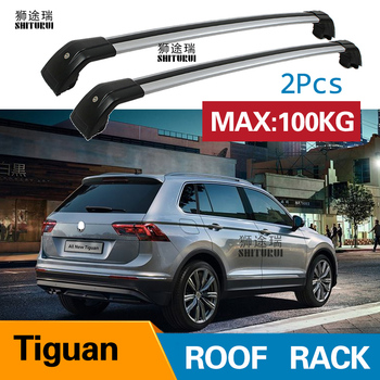 roof rack  rail (cross beam) for VOLKWAGEN Tiguan ad1 2017-2019 thicken aluminum alloy, ISO9001 quality,hot sale in China