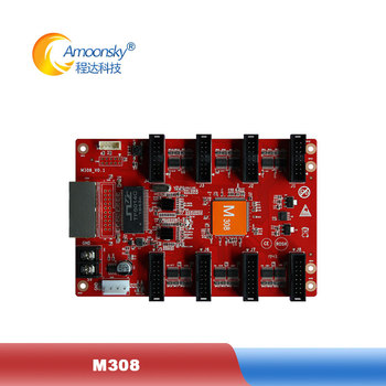 reasonable price led receiver card ams-m308 led display control card for full color indoor large led display panels image