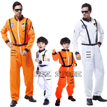 Cosplay-Set Astronaut Costume Jumpsuit Christmas-Party Adults for Kids Clothing Birthday-Gift