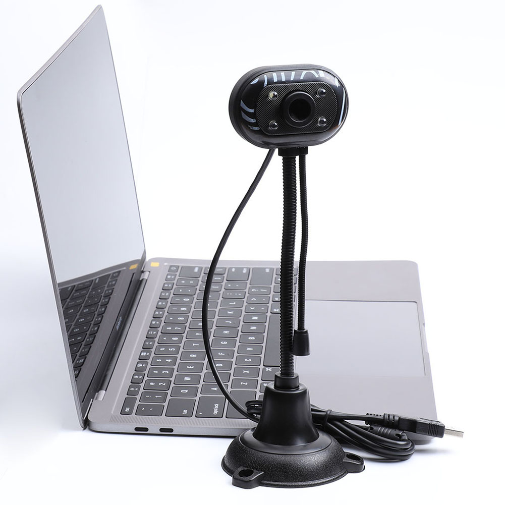 480P HD Webcam 30FPS CMOS Video Conference Calling Web Cam 360 Degrees Rotatable Web Cam USB Interface Webcam Camera For PC