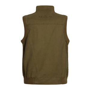 Image 3 - ICPANS gilet classique pour hommes avec plusieurs poches, veste de travail sans manches pour photographe, veste multi poches grande taille, modèle 2019 pour hommes décontracté