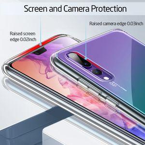 Image 5 - Coque de téléphone en verre trempé cristal ESR pour Huawei P20 couverture arrière complète pour Huawei P20 Pro Coque en verre de Silicone à bord souple