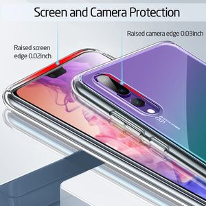 Image 5 - ESR Crystal Tempered Glass Phone Case For Huawei P20 Full Back Cover For Huawei P20 Pro TPU Soft Edge Silicone Glass Cases Coque