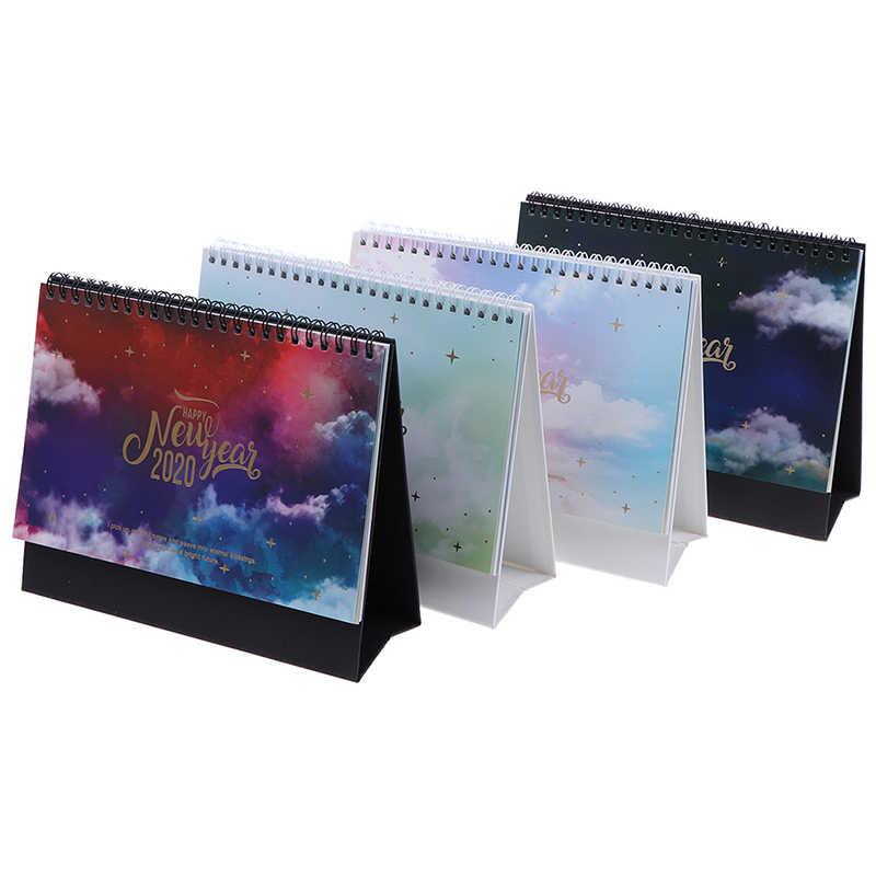 Красочная настольная стоящая рулонная бумага, планировщик стола с календарем 2020