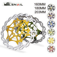 SNAIL MTB bicycle Floating Disc Brake rotor 160/180/203mm bike disc Brake Ultralight Fit Shimmano Brakes cycling Accessories