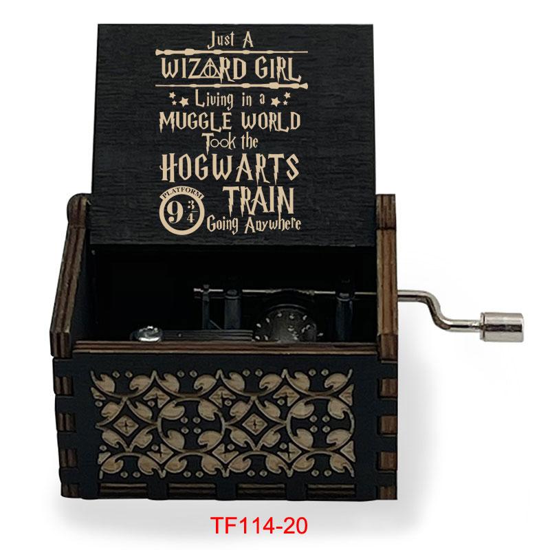 Лазерная резка Hedwigs музыкальная шкатулка Harr, деревянная музыкальная шкатулка для мужчин и женщин, волшебная Академия Хогвартса, подарок для...
