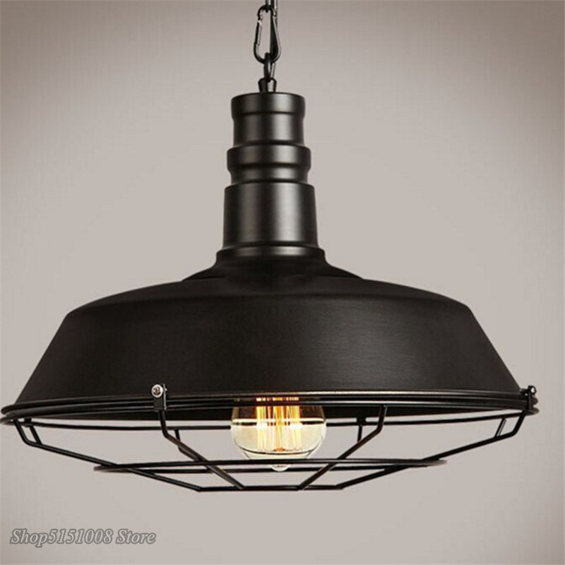 אמריקאי לופט תעשייתי רטרו ברזל תליון אורות Creative אוכל חדר בגדי חנות קפה סיר כיסוי תליית רשת מנורת דקור