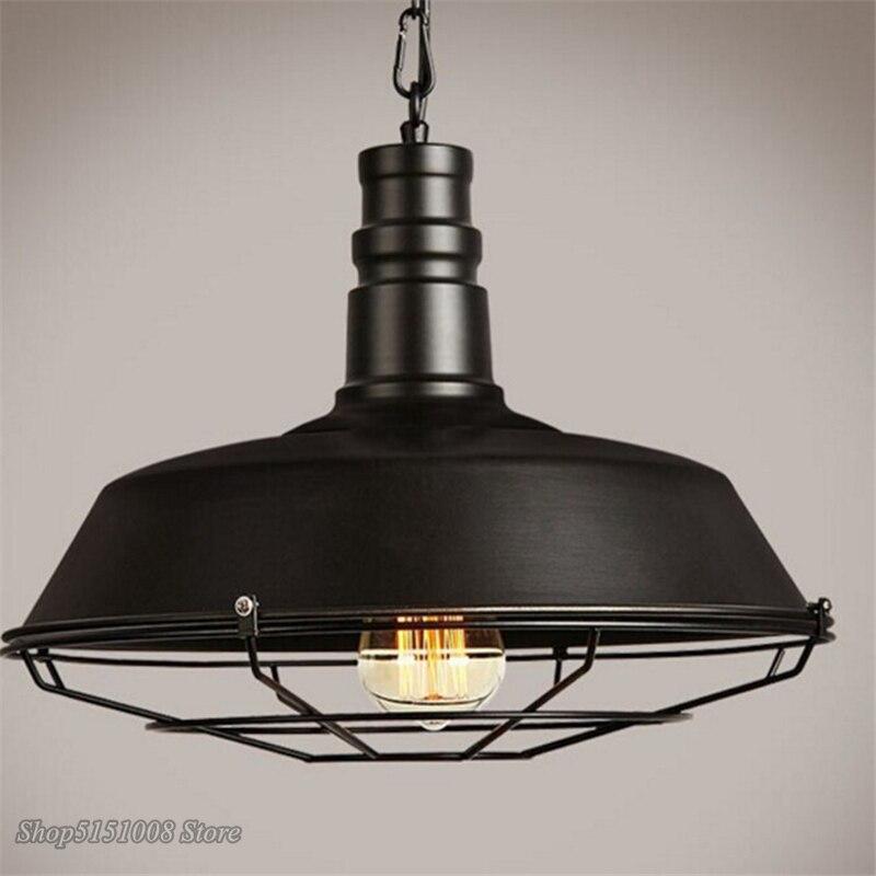American Loft przemysłowe Retro żelazne lampy wiszące kreatywne jadalnia sklep odzieżowy Cafe pokrywka wisząca dekoracyjna z lampkami