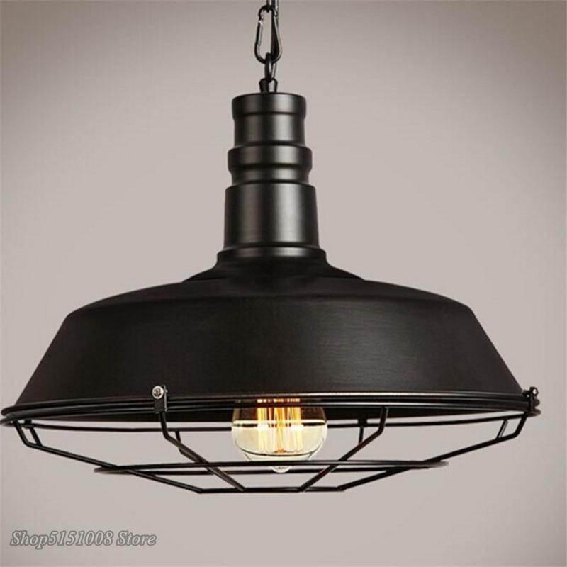 Amerikaanse Loft Industriële Retro Ijzeren Hanglampen Creatieve Eetkamer Kledingwinkel Cafe Pot Cover Netting Opknoping Lamp Decor