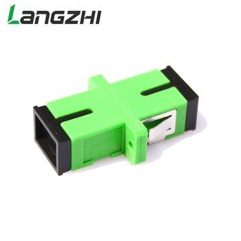 50PCS/bag SC APC Connector Simplex Mode Fiber Optic Adapter Optical Coupler Flange Sc Apc