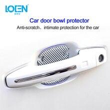 Stickers Protector Door-Handle Car-Decoration Carbon-Fiber Film 1piece