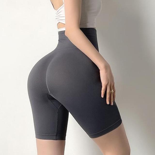 CHRLEISURE Biker Shorts Women High Waist Summer Short Sport Femme Running Workout Push Up Fitness Fashion Shorts 6