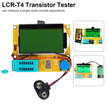 ESR измеритель, тестер транзисторов, Цифровой LCR Mega328 V2.68 ESR-T4 диодный Триод, Емкость MOS/PNP/NPN LCR 12864, тестер ЖК-экрана