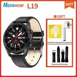 Оригинальные Смарт-часы Microwear L19 Bluetooth Call ECG IP68 кровяное давление фитнес-трекер для измерения сердечного ритма L13 L15 L16 Smartwatch
