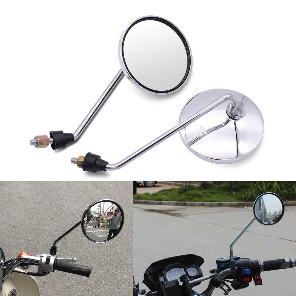 Dla Yamaha xt 660 MT125 MT01 MT03 MT25 mt 125 01 03 25 lusterko wsteczne motocyklowe okrągłe lustro motocykl długa łodyga akcesoria