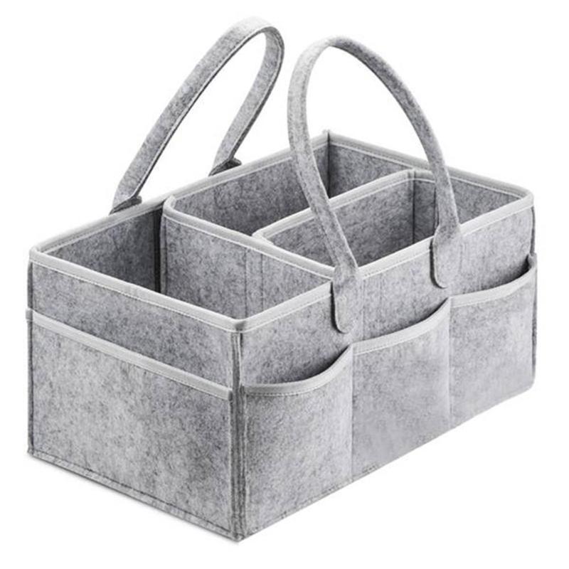 Felt Storage Bag Exquisite Design Elegant And Decent Style Foldable Baby Diaper Toys Storage Basket Car Organizer
