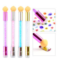 Сменная Губка для дизайна ногтей, 1 шт., градиентная ручка для дизайна ногтей, УФ-Гель-лак, цветные стразы, инструмент для тиснения ручки