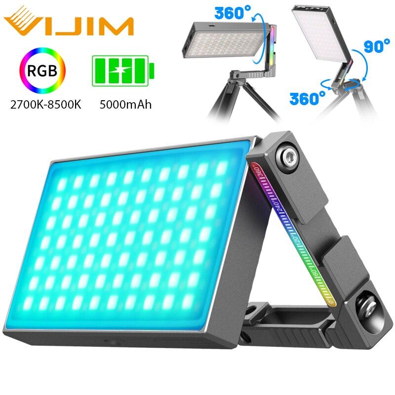 Ulanzi vijim r70 metal rgb led luz de vídeo com suporte ajustável montagem dslr slr câmera luz 2700 8500k 5000mah pd carga rápida|Iluminação fotográfica|   -
