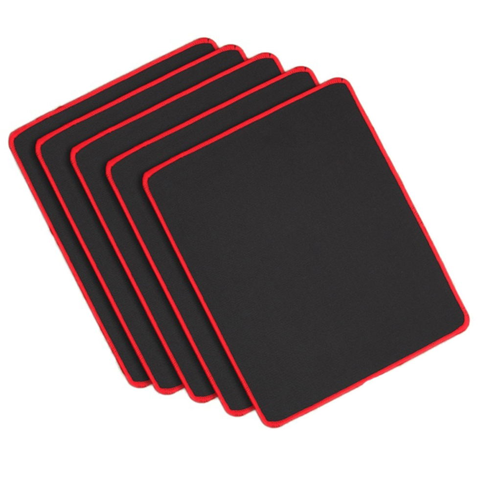 2019 Hot Non Slip Wear Resistant Computer Notebook Soft Edge Seamed Mouse Pad Office Rubber Fabric Mat