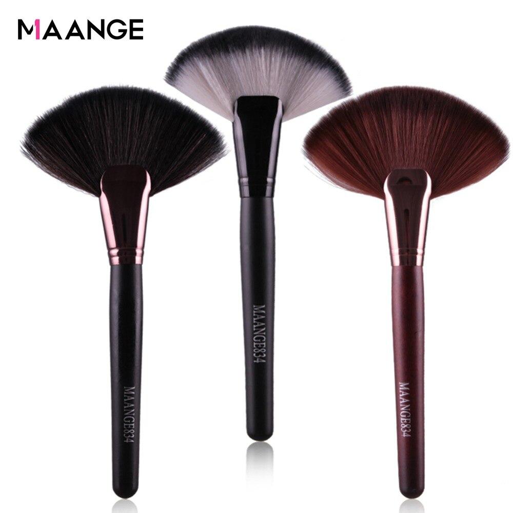MAANGE Pro 1pcs Soft Makeup Large Fan Brush Big Top Blush Loose Powder Foundation Blend Beauty Make Up Tool Cosmetics Brushes