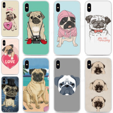 Custom Photo Silicone Cover Cute Pug Puppy Dog Cases For Vodafone Smart N10 V10 X9 E9 C9 N9 Lite V8 N8 E8 Prime 6 7 Phone Case