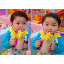 New Adjustable Baby Children Universal Juice Pouch Milk Box Holder Cup Self-Helper for Toddler(China)