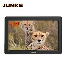 JUNKE Portable TV 12 Inch Digital And Analog Led Televisions Support TF Card USB Audio Car Television DVB-T DVB-T2 AC3