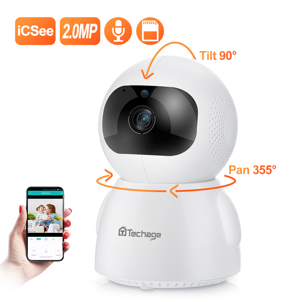 Techage1080P Wireless IP Camera Intelligent Auto Tracking 24 Hours Video Home Security Surveillance CCTV Network Wifi Camera