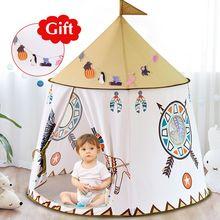 Kid Tent House Castle Hang-Flag Present Children Teepee YARD Birthday Princess Portable
