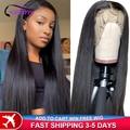 Клюквы волосы прямые волосы Синтетические волосы на кружеве парики из натуральных волос для Для женщин 360 Синтетические волосы на кружеве al...