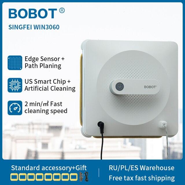 BOBOT Robot  Window Vacuum Cleaner with Detect the Edge Sensor Home Windows Floor Wall Cleaning Robot singfei win3060