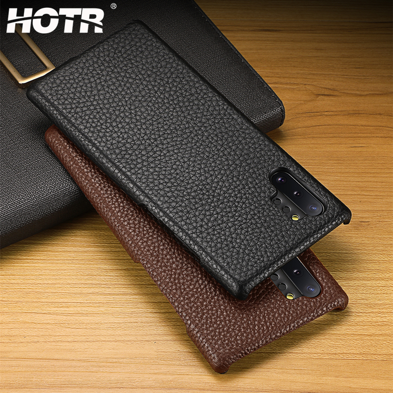 Note 10 Genuine Leather Case for Samsung Galaxy Note 10 Plus Real Leather Back Cover for Samsung Galaxy Note 10 Pro Protect Case