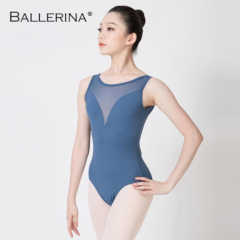 Ballerina Ballet Leotard For Women Practice Dance Costume Adulto Aerialist Gymnastics Sleeveless Red Leotards 5687