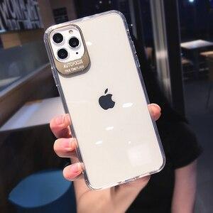 Image 3 - מתכת עדשת אותיות מקרי מגן לאייפון 11 2019 XS Max XR XS 6 6S 7 8 בתוספת מלא גוף רך TPU שקוף טלפון חזרה כיסוי