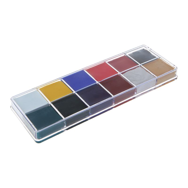Professional Face Body 12 Colors Oil Painting Paint Pigment For Beauty Kit Makeup Cosmetic Supplies Pigment Powder