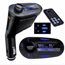 цена на 3 in 1 Wireless Bluetooth FM Transmitter MP3/MP4 Player Car Kit car Charger for iphone + Remote Controller car audio player