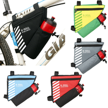Portable Triangle Bicycle Bag Waterproof Cycling Front Frame Pouch Bike Bags Water Bottle Storage Accessories