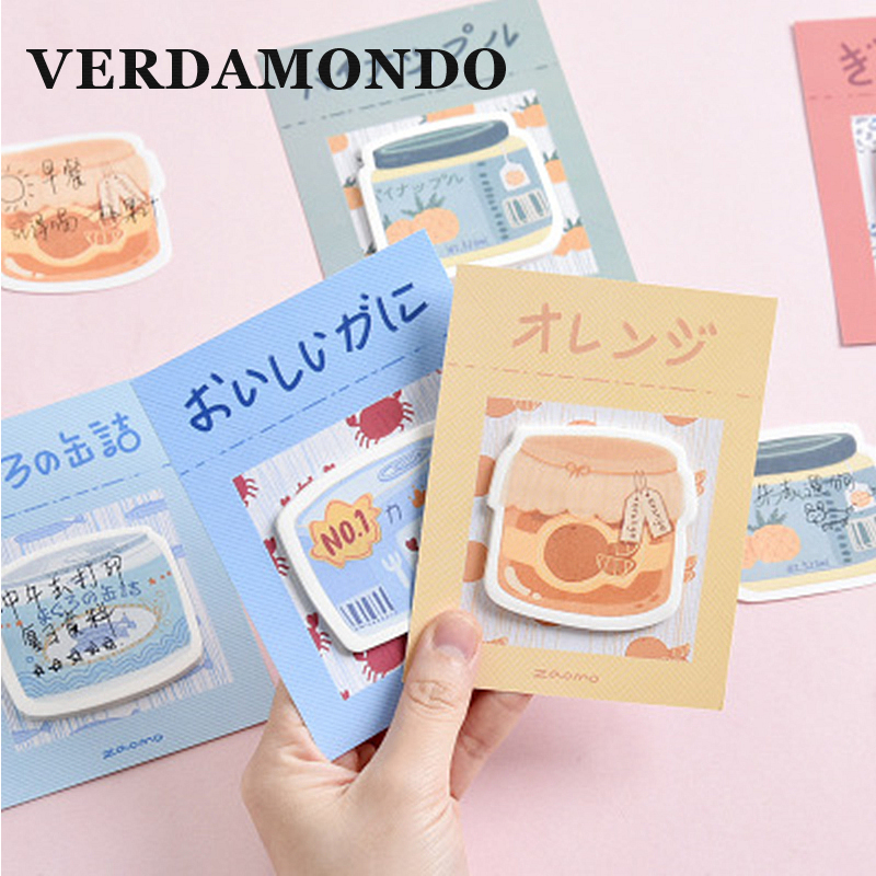 Креативные стикеры в виде консервированных фруктов, серия сообщений, стикер N Times, милые канцелярские товары, 30 страниц
