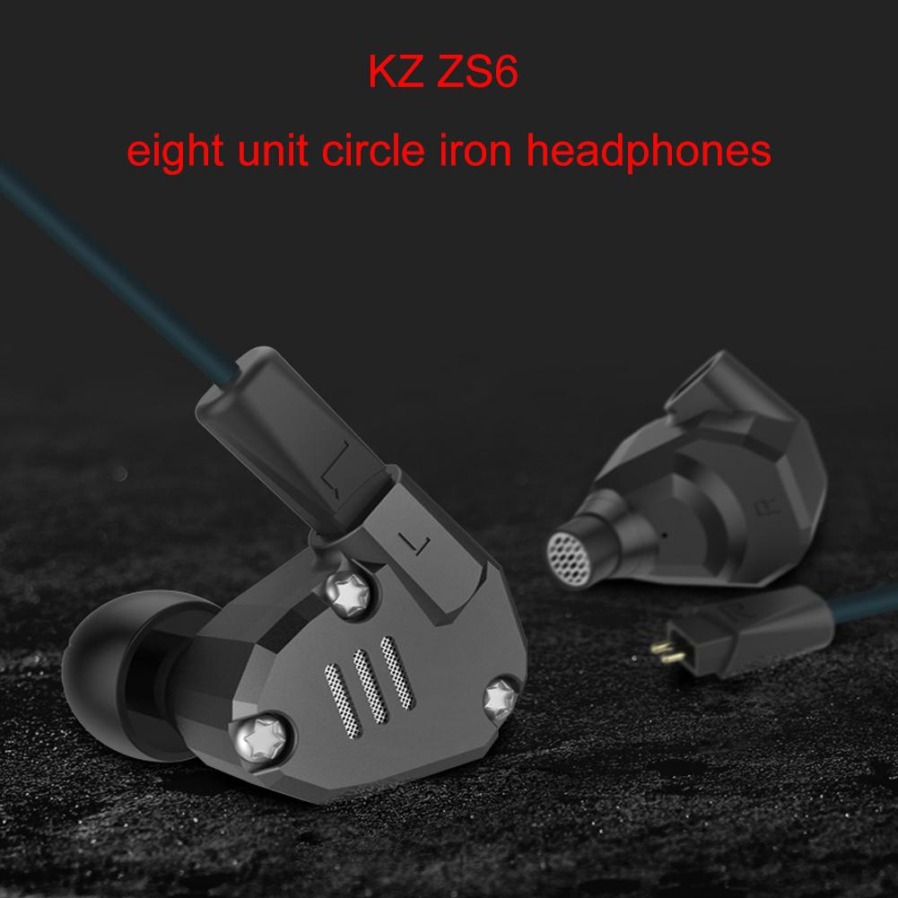 KZ ZS6 Metal Heavy Bass HiFi Sound Music Earpiece Universal 3.5 mm In-ear Wired Earphones image