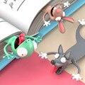 3D Stereo Cartoon Marker Tier Lesezeichen Original Nette Katze PVC Material Lustige Student Schule Schreibwaren Kinder Geschenk Lesezeichen
