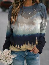 Женская толстовка с капюшоном пуловер принтом уличные топы длинным