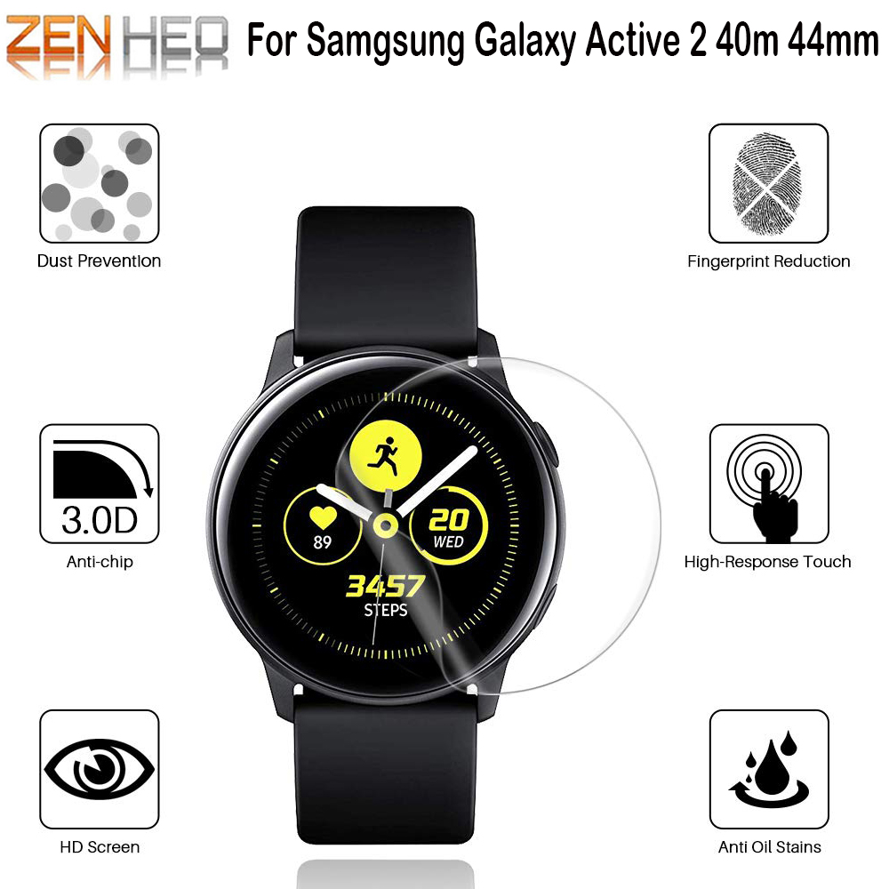 2pcs Soft HD Protective Film For Samsung Galaxy Watch Active 2 Active2 40mm 44mm Ultra-thin Full Cover Screen Protector Film