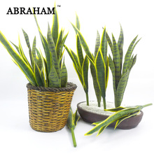 68cm Fake Aloe Tropical Succulents Plant Large Artificial Green Tree Branch Real Touch Cactus Grass for Autumn Home Decoration