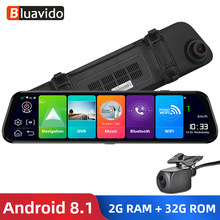"Bluavido 12"" IPS Car Mirror DVR GPS 2G RAM 4G LTE Android 8.1 Camera Video Recorder Navigation HD 1080P rearview mirror Dash Cam(China)"
