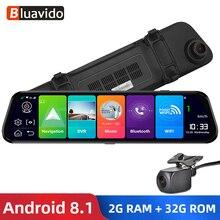"""Bluavido 12 """"IPS rétroviseur DVR GPS 2G RAM 4G LTE Android 8.1 caméra enregistreur vidéo Navigation HD 1080P rétroviseur caméra de bord"""