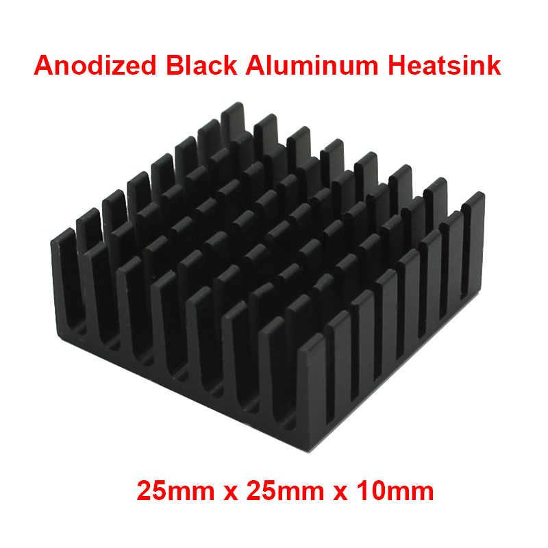 Disipador de calor de aleta de aluminio para radiador con cinta adhesiva térmica, disipador de calor adhesivo conductivo térmicamente, Enfriador de refrigeración para PC RAM,10 Uds