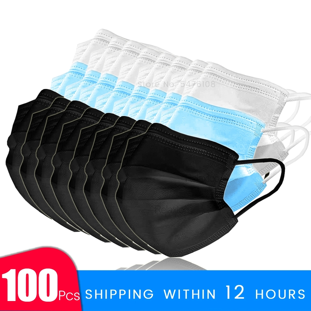 10 20 50 100 Pcs Masque Disposable Protective Masks Anti-dust Safety Face Mouth Mask 3 Layers Nonwoven Mascara Mascarias De Boca