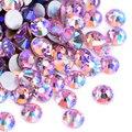 SS3-SS30 светлый розовый с напылением АВ не горячей фиксации Стразы блестящие стеклянные стразы для дизайна ногтей камень не исправление Страз...