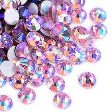 SS3-SS30 luz rosa ab não quente fix strass glitter strass vidro da arte do prego pedra não hotfix strass para unhas sapatos y3103